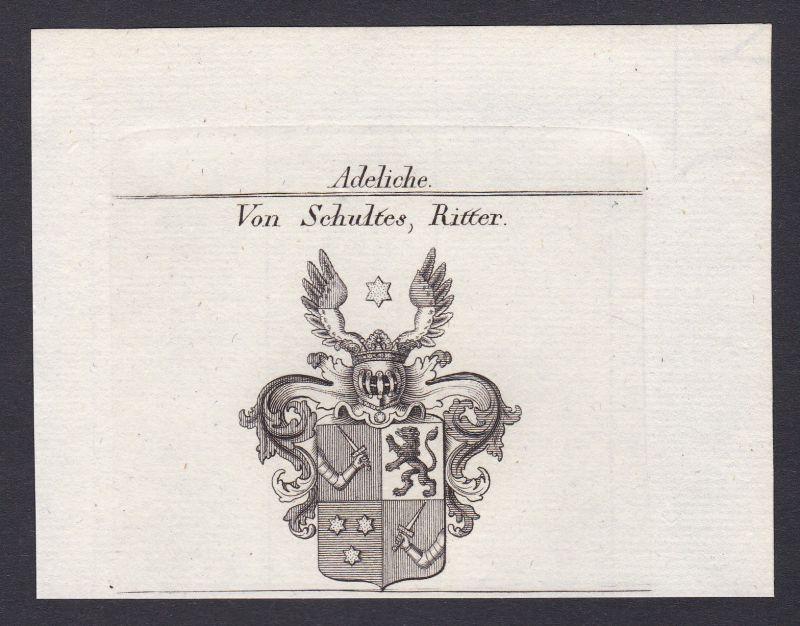 1820 Schultheiß Schultes Wappen Adel coat of arms Kupferstich antique print