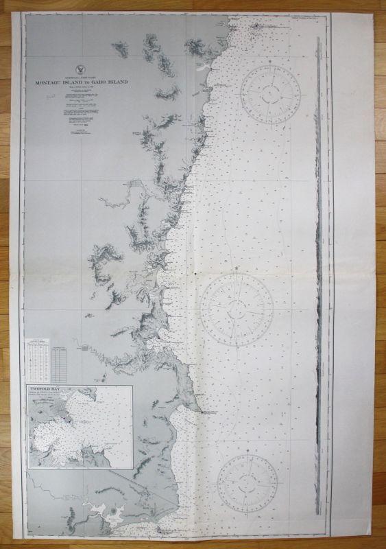 1935 Australia - East Coast - Montagu Island to Gabo Island Australien map