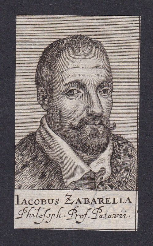 17. Jh. Jacopo Zabarella / philosopher Philosoph Padua Portrait Kupferstich