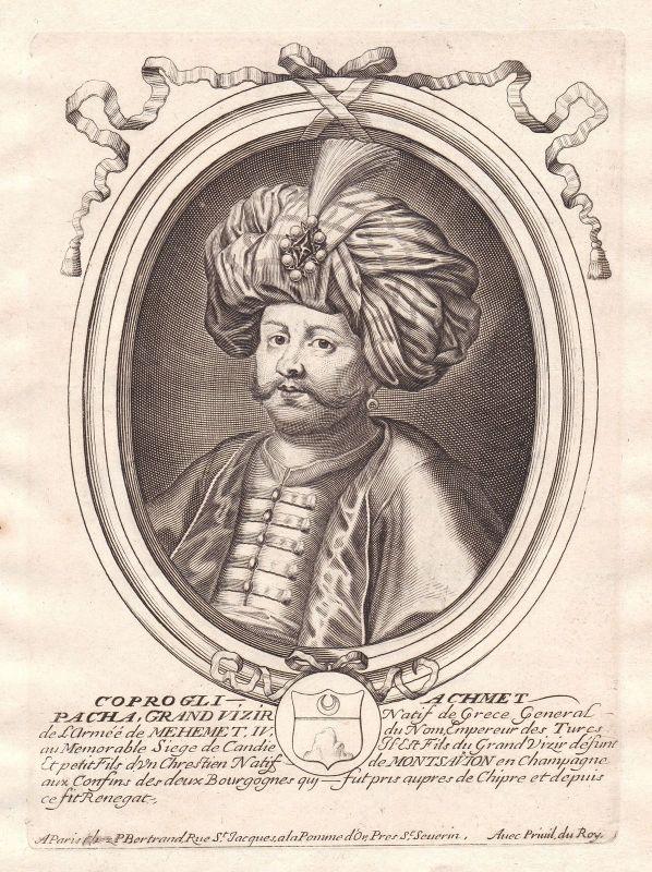 1680 Köprülü Fazil Ahmed Pascha Ottoman Empire Portrait Kupferstich engraving