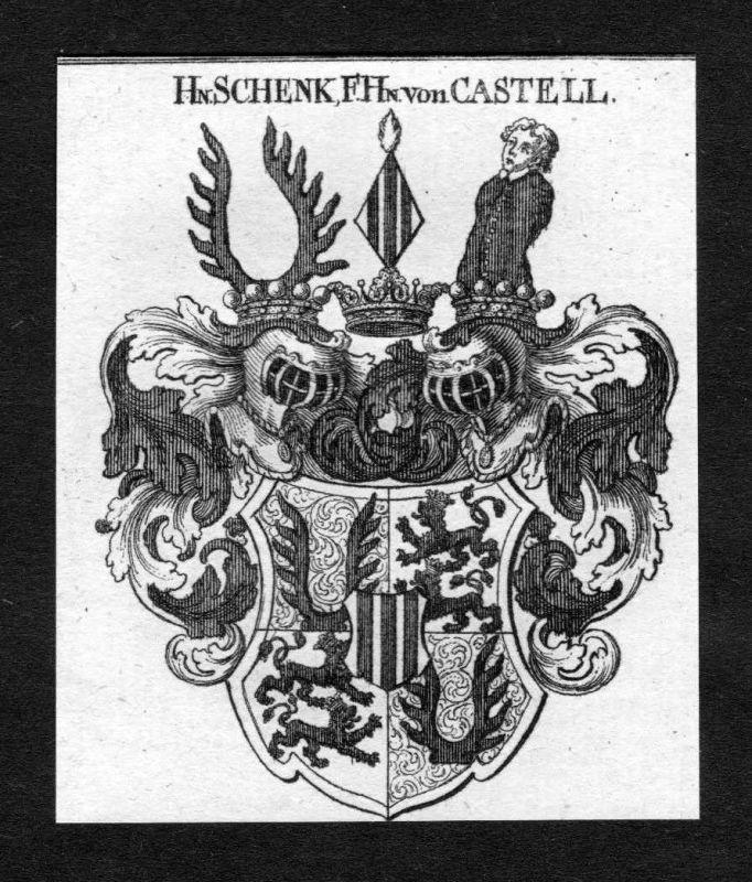 1820 - Schenk von Castell Wappen Adel coat of arms heraldry Heraldik