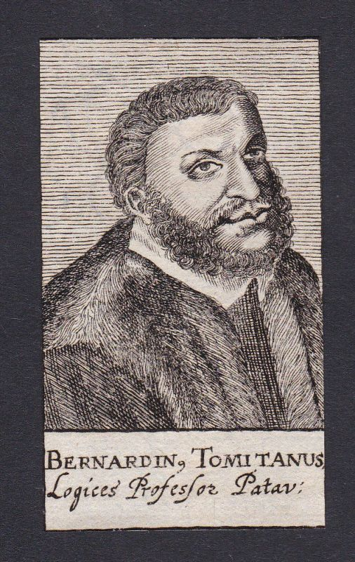 17. Jh. Bernardino Tomitano Padova Portrait Kupferstich antique print incisione