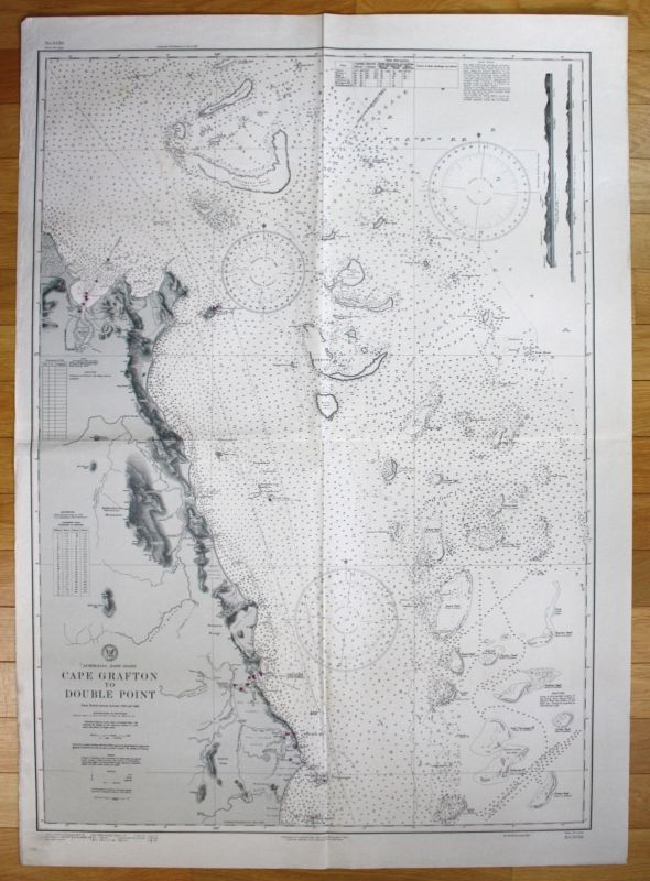 1944 Australia - East Coast - Cape Grafton to Double Point Australien map
