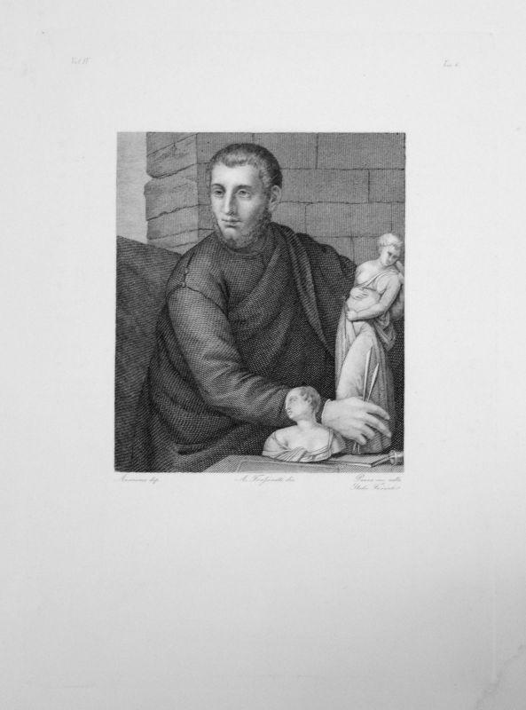 1840 - Portrait d'Inconnu - Radierung engraving gravure