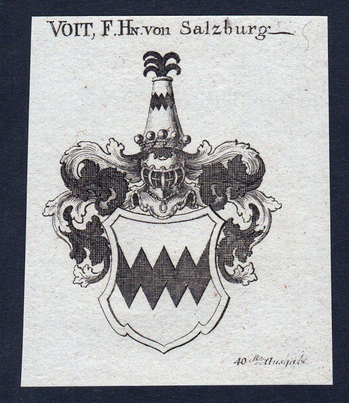 1820 Salzburg Österreich Austria Wappen Adel coat of arms Kupferstich engraving
