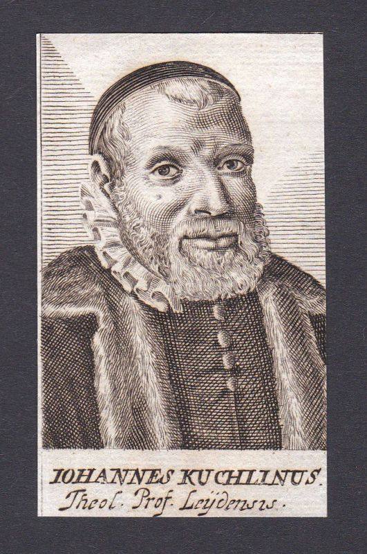 1680 Johannes Kuchlinus / theologian Theologe Leiden Portrait Kupferstich