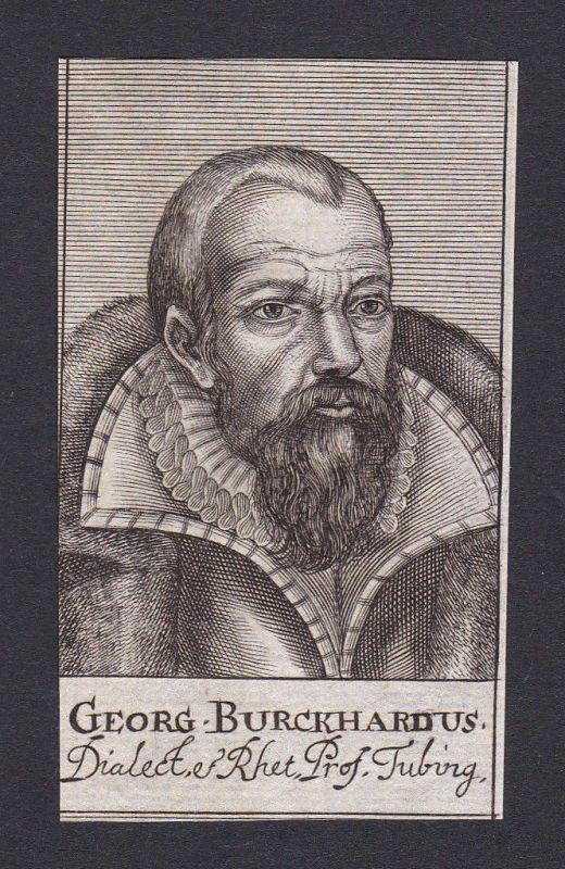 17. Jh. Georg Burkhardt / professor Professor Tübingen Portrait Kupferstich