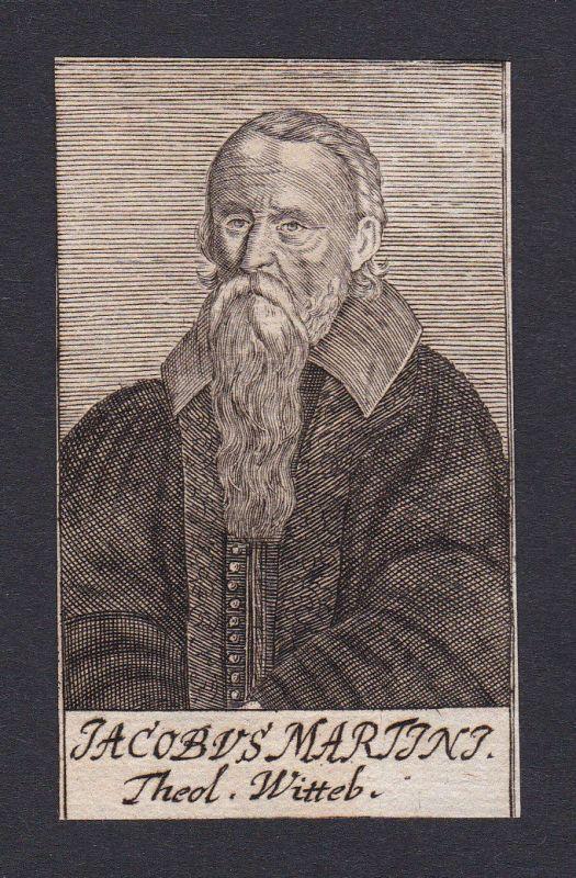 17. Jh. Jakob Martini / theologian Theologe Wittenberg Portrait Kupferstich