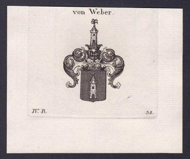 1820 Weber Bayern Bavaria Wappen Adel coat of arms Kupferstich antique print