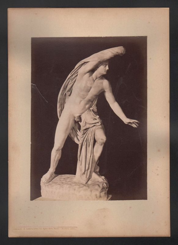 1890 Napoli Galleria Uffizi Uffizien Statue Kunstwerk Florenz antique Photo