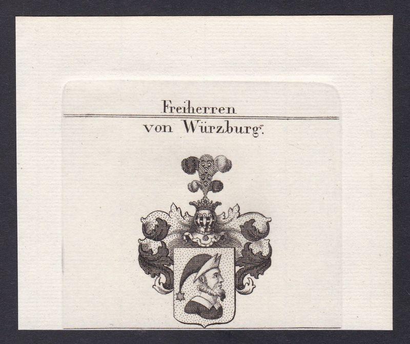 1820 Würzburg Bayern Franken Wappen Adel coat of arms Kupferstich antique print