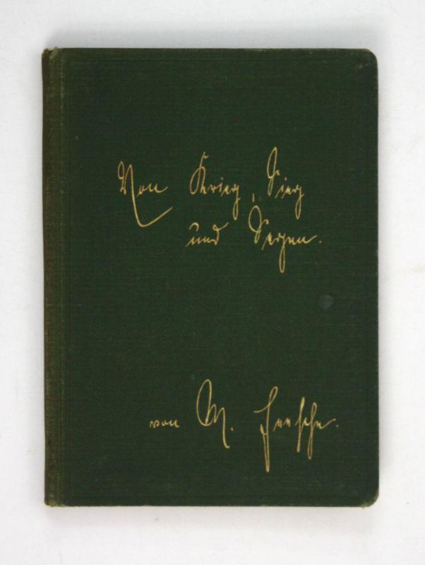 1915 Marie Feesche Von Krieg, Sieg und Segen. Gedichte. Weltkrieg Krieg