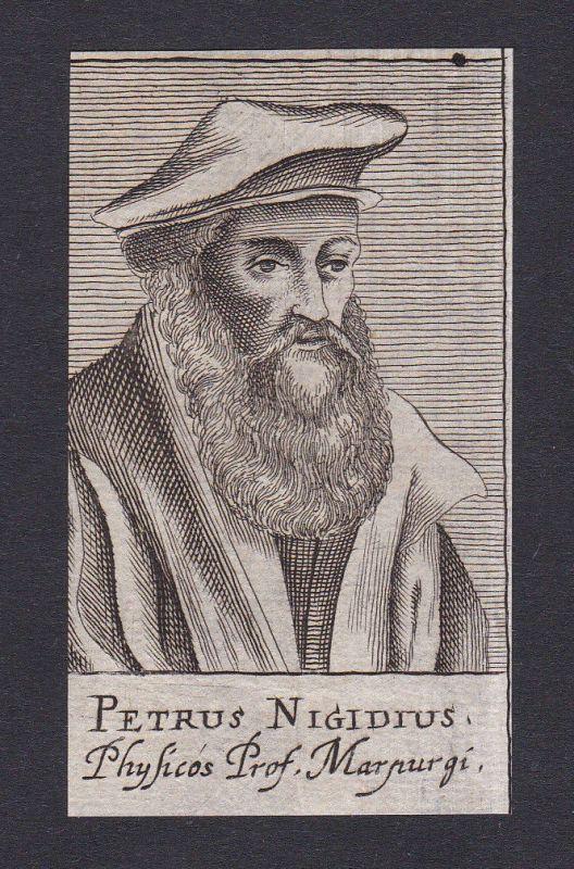 17. Jh. Peter Nigidius / philosopher Philosoph Marburg Portrait Kupferstich