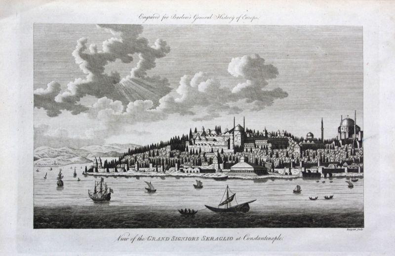 Ca 1790 Istanbul Turkey Türkei Constantinople Ansicht view Kupferstich engraving