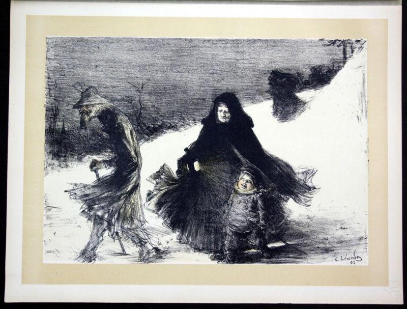 1897 Charles Leandre Art Nouveau Jugendstil Lithographie Poster estampe Moderne