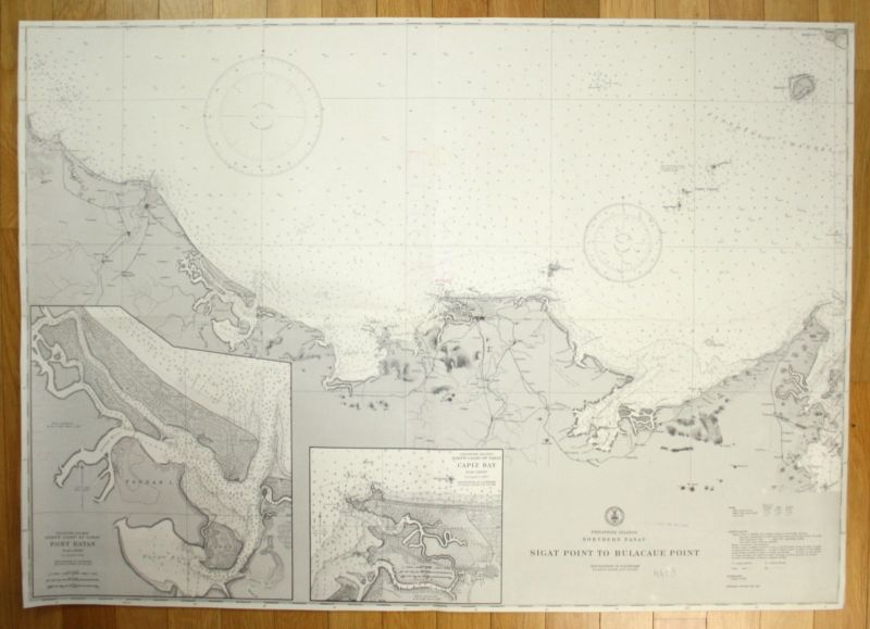 1945 Philippine Islands Panay Sigat Point Bulacaue Point Philippines map