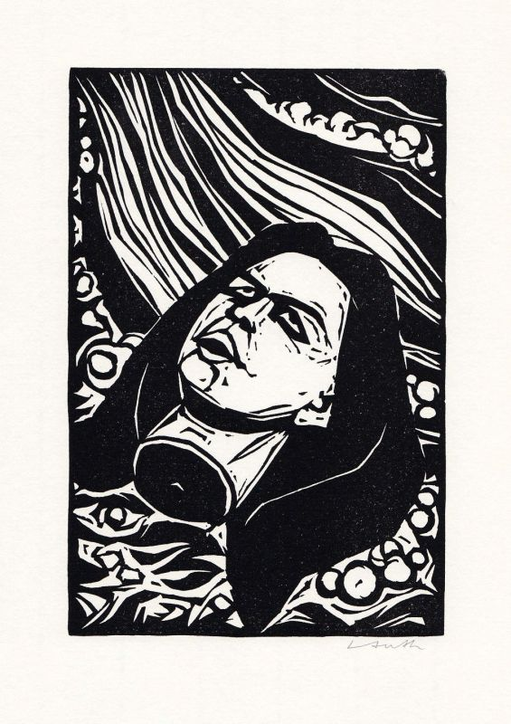 2000 Benno Huth Original-Linolschnitt zu Ovid