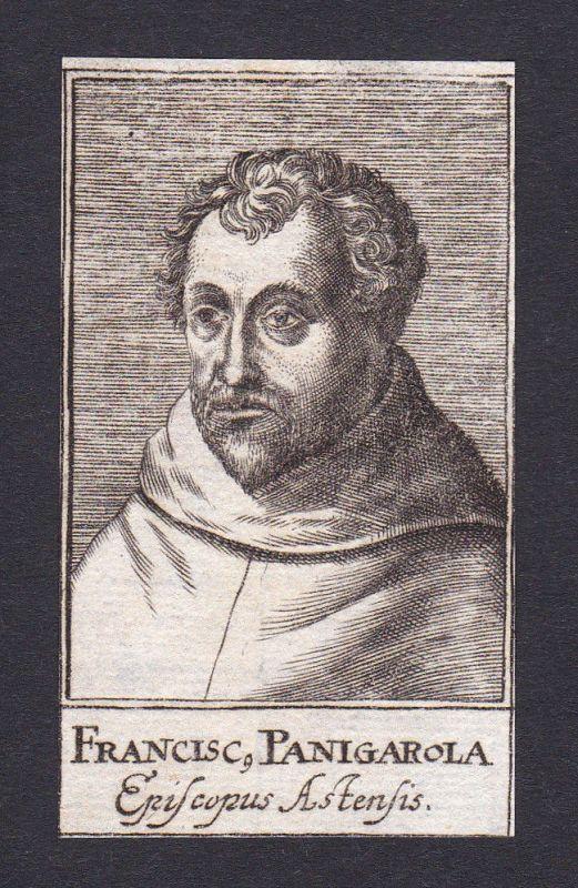 1680 Franciscus Panigarola / bishop Bischof Asti Italien Portrait Kupferstich