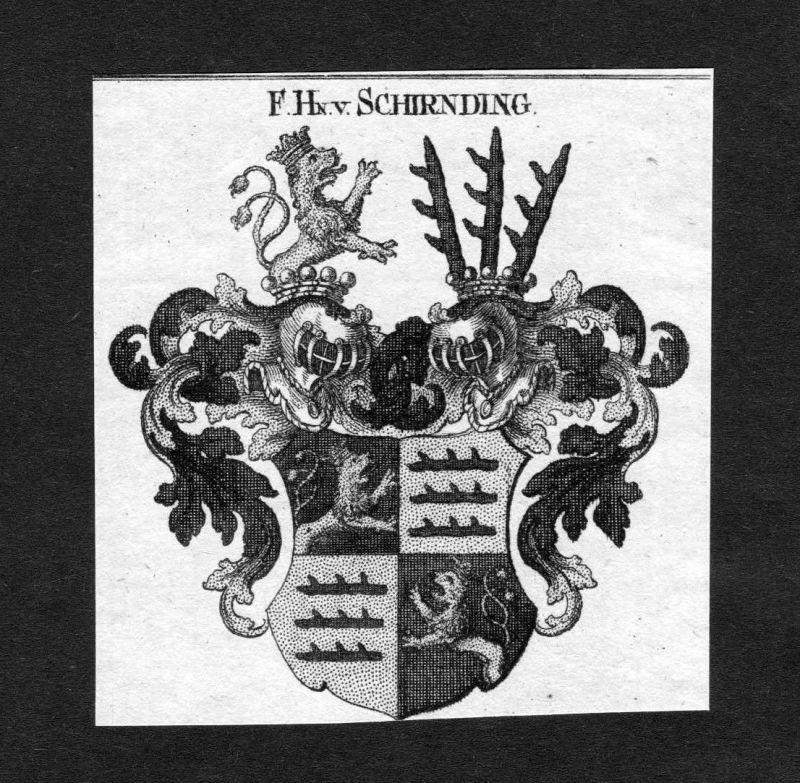 1820 - Schirnding Schirndinger Wappen Adel coat of arms heraldry Heraldik 124536