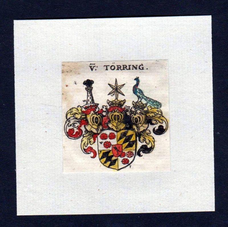 17. Jh von Törring Wappen Adel coat of arms heraldry Heraldik Kupferstich