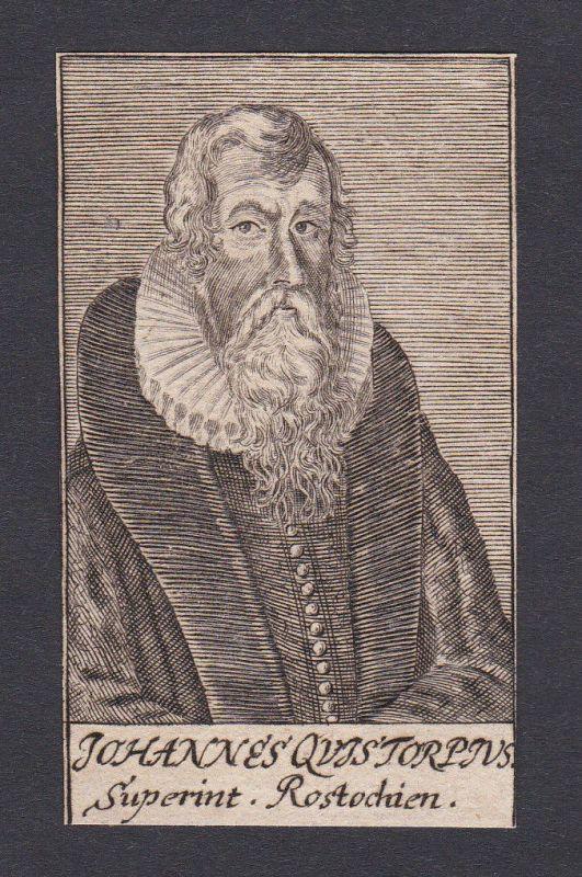 17 Jh Johann Nikolaus Quistorp theologian Theologe Rostock Portrait Kupferstich