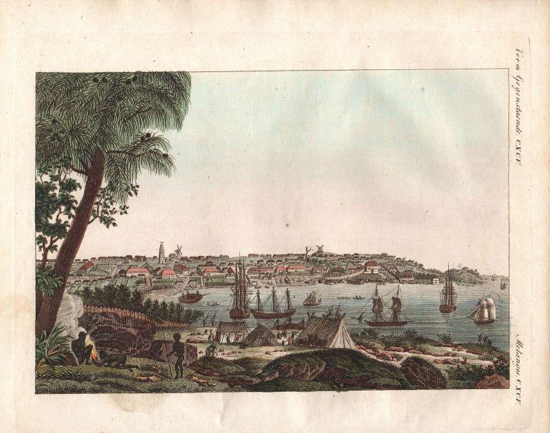 Sydney Ansicht view vue Australien Australia Bertuch Kupferstich antique print