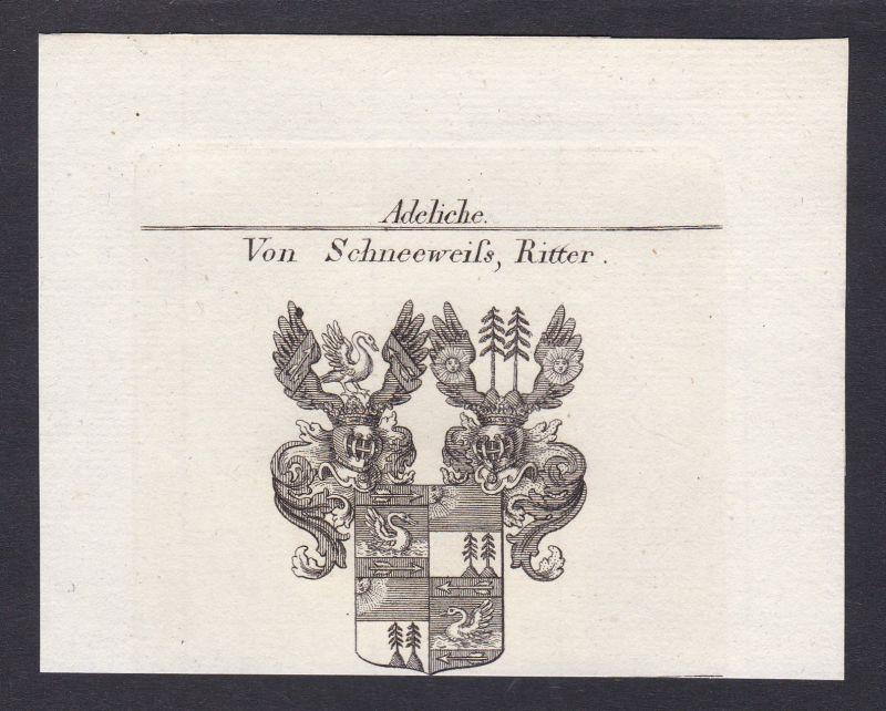 Schneeweiß Österreich Austria Wappen Adel coat of arms Kupferstich antique print