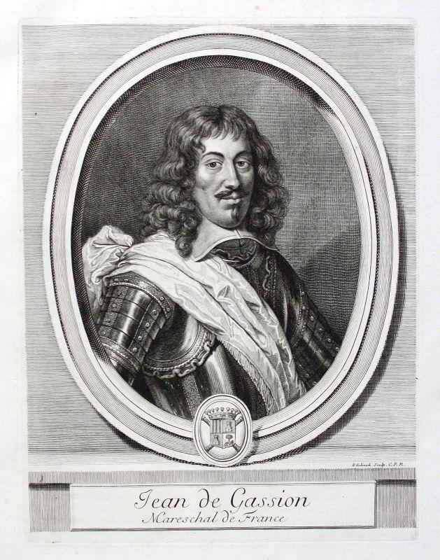 Jean de Gassion marechal Marschall President Navarre Portrait gravure ca. 1700