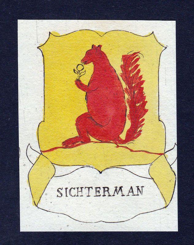 1800 Jan Albert Sichterman Niederlande Wappen coat of arms Kupferstich engraving