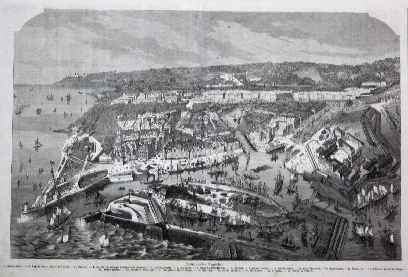 1871 Le Havre France Frankreich Original Holzstich woodcut gravure