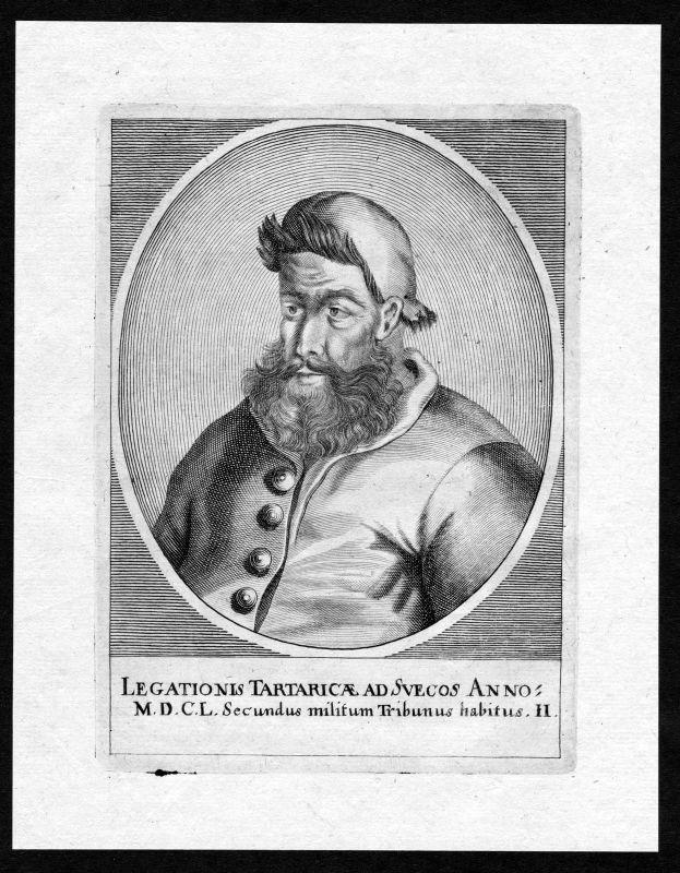 17. Jh. Osman Empire Turkey Türkei Sweden Portrait Kupferstich antique print