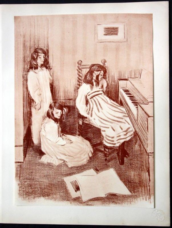 1897 Alfredo Muller Art Nouveau Jugendstil Lithographie Poster estampe Moderne