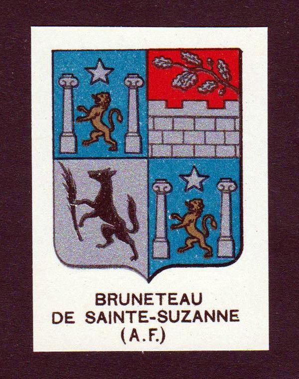 Ca. 1880 Bruneteau de Sainte-Suzanne Wappen Adel coat of arms heraldry an 146241