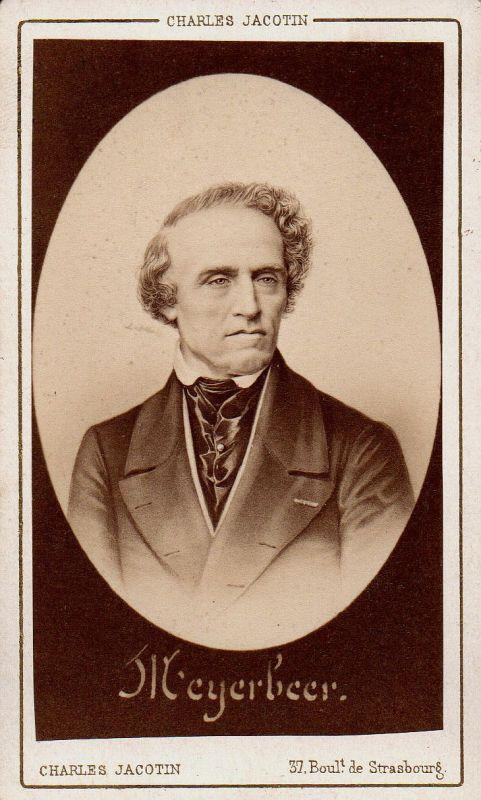 Giacomo Meyerbeer Pianist Komponist composer Portrait CDV Foto photo 1870