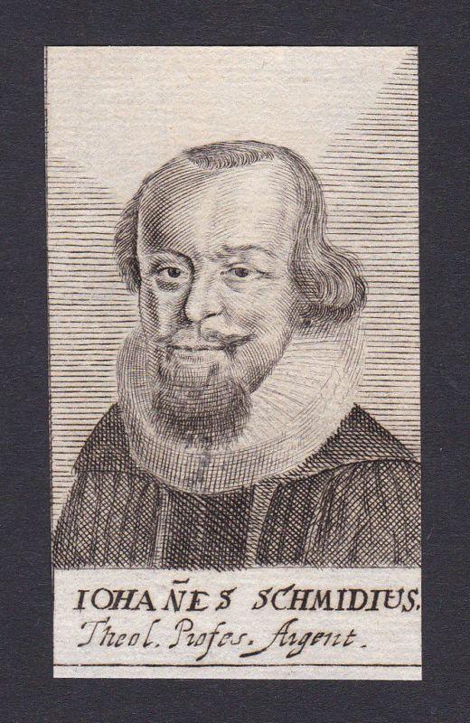 17. Jh. Johann Johann Schmid / theologian Theologe Breslau Portrait Kupferstich