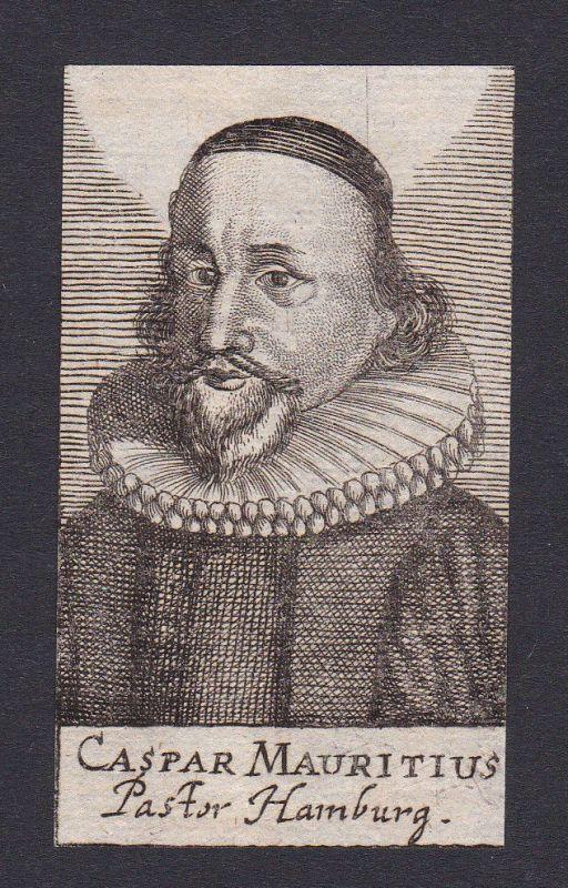 17. Jh. Caspar Mauritius / theologian Theologe Rostock Portrait Kupferstich