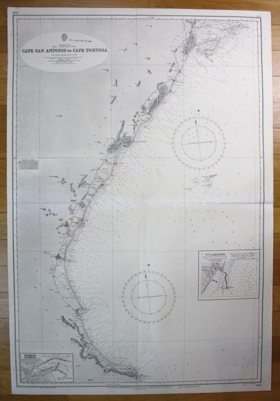 1960 Mediterranean Spain South-East Coast Cape San Antonio Cape Tortosa map