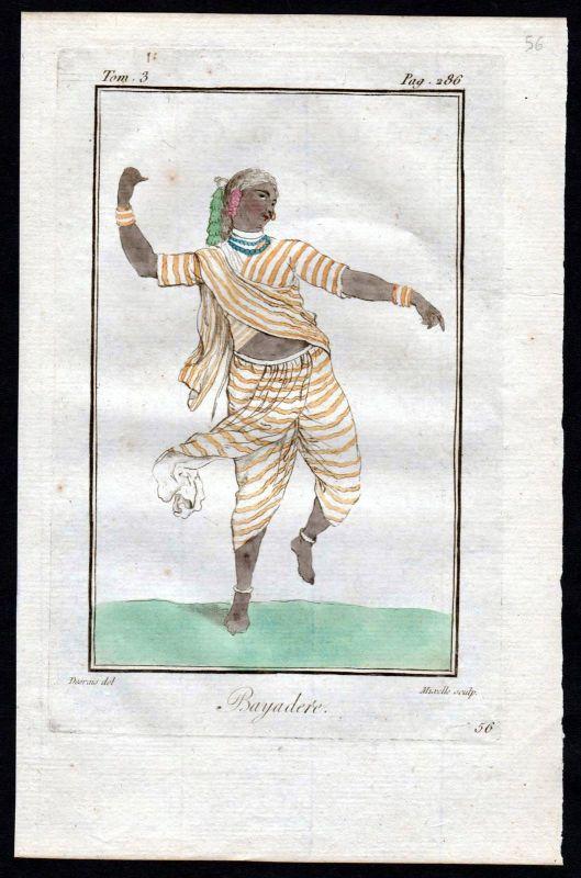 1780 - Tempeltänzerin Indien India Asien Asia costume Kupferstich Tracht
