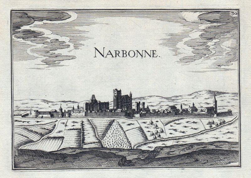 1630 Narbonne Aude France gravure estampe Kupferstich Tassin 146409