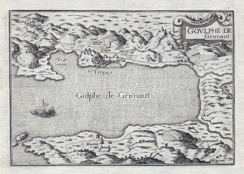 1630 Grimaud Provence-Alpes-Côte d'Azur Var France gravure estampe Tassin