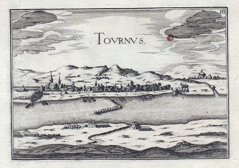 1630 Tournus Bourgogne Burgund France gravure estampe Kupferstich Tassin 146311