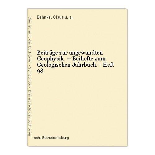 Beiträge zur angewandten Geophysik. -- Beihefte zum Geologischen Jahrbuch. - Hef
