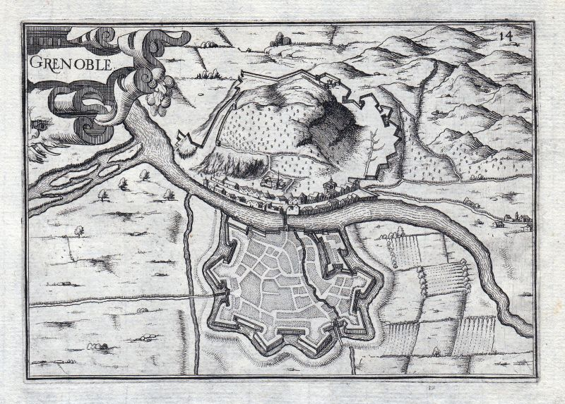 Grenoble Auvergne-Rhône-Alpes Isere France gravure estampe Kupferstich Ta 146330