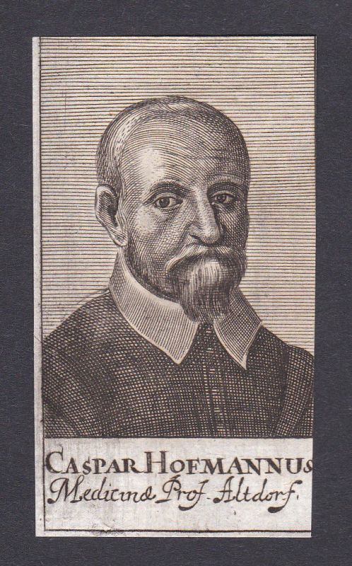 17. Jh. Caspar Hofmann / doctor Mediziner Altdorf Portrait Kupferstich