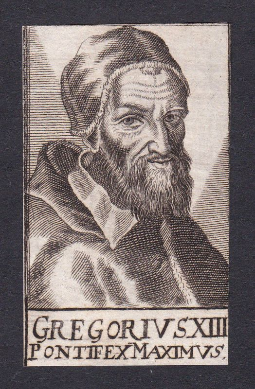 17. Jh. Gregor XIII. / pope Papst Bologna Italien Italy Portrait Kupferstich