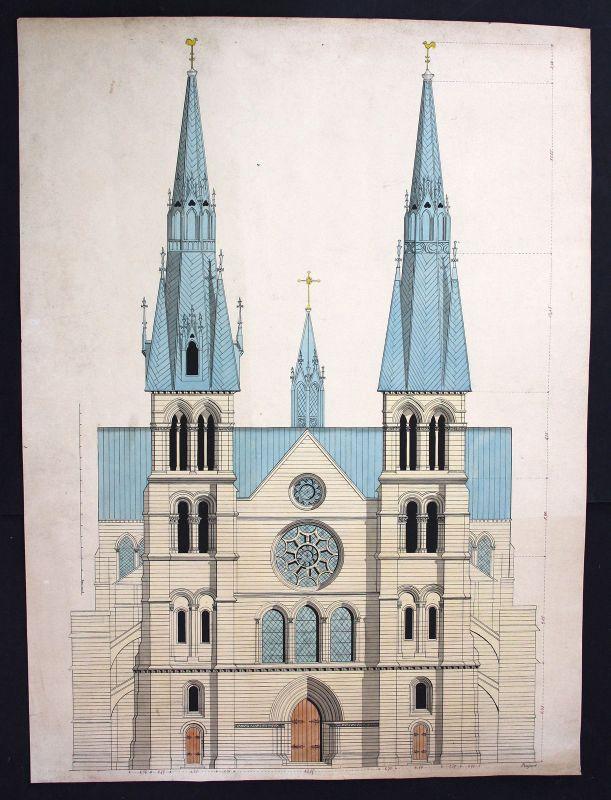 Kirche church eglise Architektur architecture Zeichnung drawing dessin Poupart