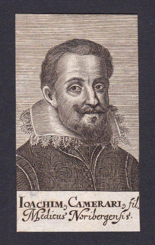 Joachim Camerarius der Ältere humanist Humanist Nürnberg Portrait Kupferstich