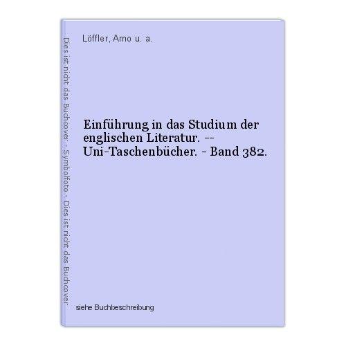 Einführung in das Studium der englischen Literatur. -- Uni-Taschenbücher. - Band