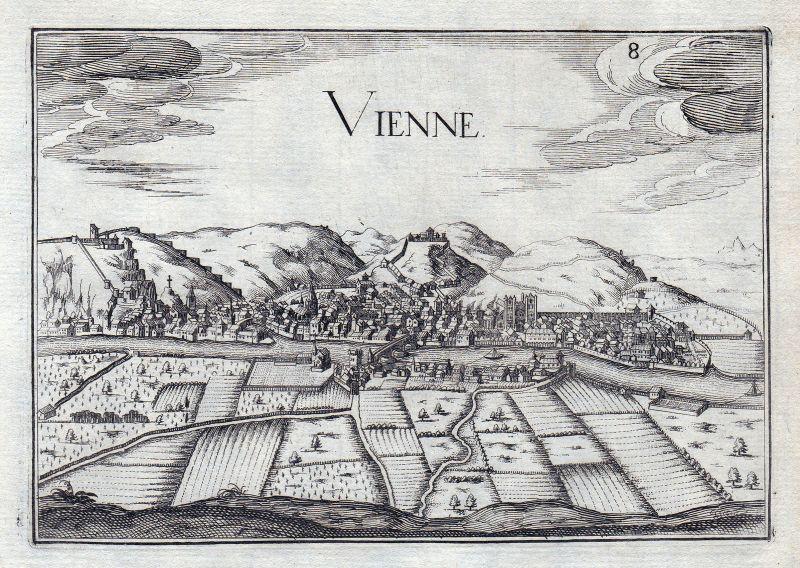 Vienne Auvergne-Rhone-Alpes Dauphine France gravure estampe Kupferstich Tassin