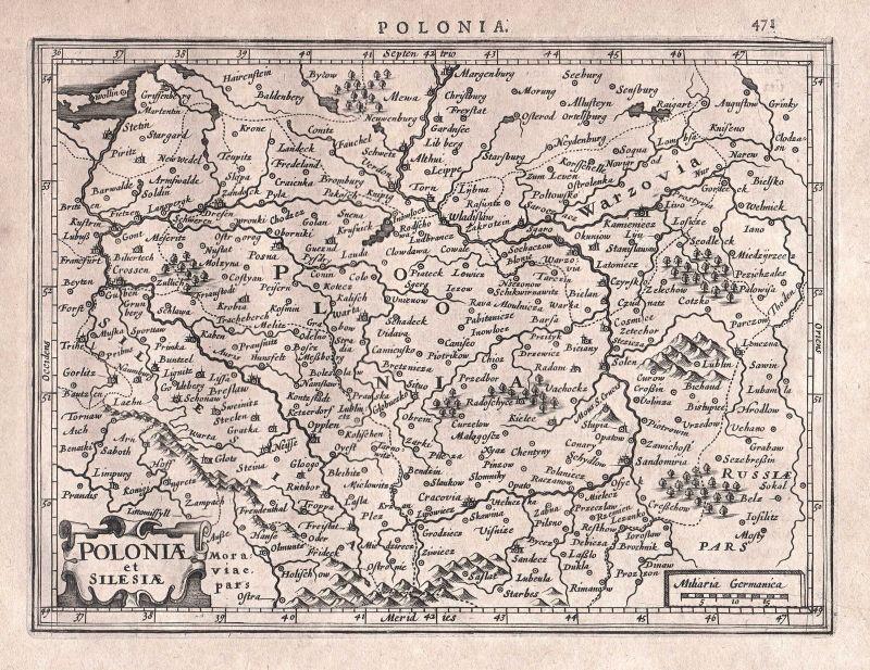 Polen Schlesien Karte.Polen Poland Polska Schlesien Silesia Slezsko Breslau Wroclaw Map Karte Mercator